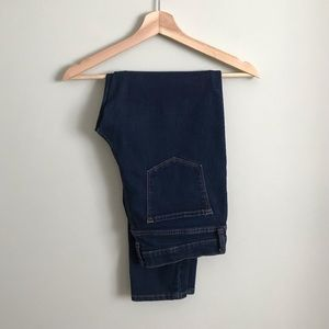 Banana Republic // Hi-Rise Dark Blue Skinny Jeans